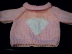 Handmade Build A Bear Cub Sweater - Single Heart