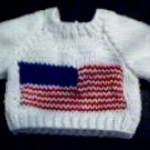 Handmade Baby Born Doll Sweater - American Flag
