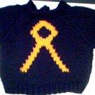 Handmade Baby Born Doll Sweater - Cancer Pin Ribbon