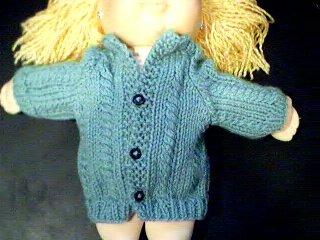 Handmade Baby Born Doll Sweater - Cardigan Sweater
