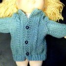 Handmade Baby Born Doll Sweater - Cardigan Sweater