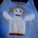 Handmade Baby Born Doll Sweater - Christmas Angel