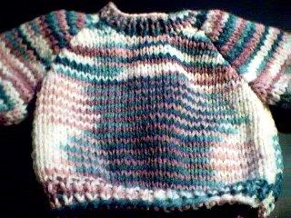 Handmade Baby Born Doll Sweater - Christmas Colors