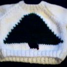 Handmade Baby Born Doll Sweater - Christmas Tree