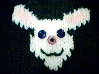 Handmade Baby Born Doll Sweater - Easter Bunny
