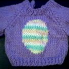 Handmade Baby Born Doll Sweater - Easter Egg