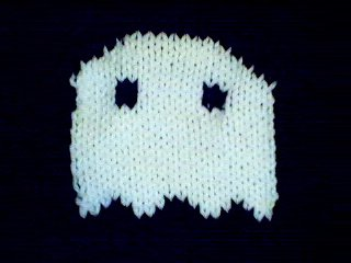 Handmade Baby Born Doll Sweater - Ghost
