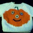 Handmade Baby Born Doll Sweater - Jack O Lantern