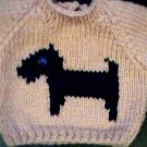Handmade Baby Born Doll Sweater - Scottish Terrier Dog
