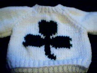 Handmade Baby Born Doll Sweater - Shamrock