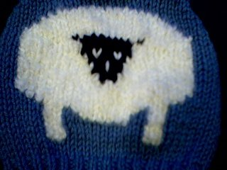 Handmade Baby Born Doll Sweater - Sheep