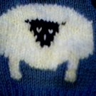 Handmade Baby Born Doll Sweater - Sheep