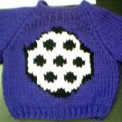 Handmade Baby Born Doll Sweater - Soccer Ball
