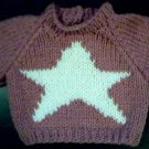 Handmade Baby Born Doll Sweater - Star