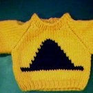 Handmade Baby Born Doll Sweater - Witch Hat