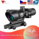 Hunting RifleScope ID19 Hunting Riflescope ACOG 4X32 Real Fiber Optics Red Dot Illuminated Chevron G