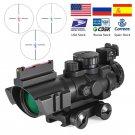Hunting RifleScope ID22 4x32 Acog Riflescope 20mm Dovetail Reflex Optics Scope Tactical Sight For Hu