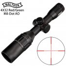 Hunting RifleScope ID57 WALTHER 4x32 AO Mini Mil-Dot Double Color Illuminated Reticle Hunting Rifles