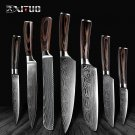 Knife ID02 XITUO Cleaver Slicing Knife Chef-Knives Laser Gift Damascus Steel Utility Sharp Santoku