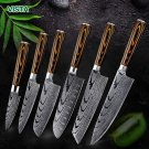 Knife ID40 Laser Knife Chef-Knives Japanese Imitation-Damascus Stainless-Steel High-Carbon 7cr17 440