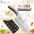 Knife ID59 SOWOLL Kitchen Knife Cleaver Cooking-Accessorie Stainless-Steel Fibre-Handle 7inch Brand