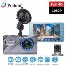 Podofo Dash Cam New Dual Lens Car DVR Camera Full HD 1080P