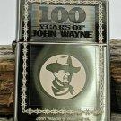 Retired 2006 100 Years of John Wayne Chrome Zippo Lighter 3009/5000 Free Shipping