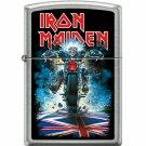 """Iron Maiden"" UK Motorcycle Street Chrome Finish Zippo Lighter Free Shipping"