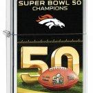 Zippo Lighter Super Bowl Champions 50 Denver Broncos Free Shipping