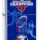 Rare Retired Zippo Lighter 2012 World Series San Francisco Giants Free Shipping