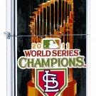 Rare Retired Zippo Lighter 2011 World Series St Louis Cardinals Free Shipping