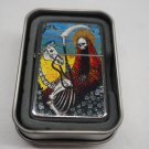 Tarot card Death #3 Case Lighter W/Fitted Dual Torch Butane Insert Free Shipping