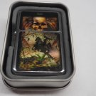 Tarot card Death #5 Case Lighter W/Fitted Dual Torch Butane Insert Free Shipping