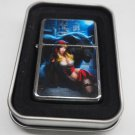 Girl W/Black Panther Lighter W/Fitted Dual Torch Butane Insert Free Shipping