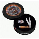 Case Cutlery Round Orange County Chopper Tin w/Mini Trapper 6207 #6900