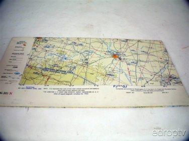 Large 1950's Aeronautical Wall Maps Charts CONUS