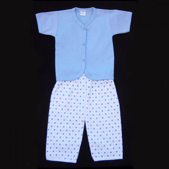 YARD SALE - INFANT SLEEPWEAR - BLUE AND WHITE 3-6 MOS. - FREE SHIPPING