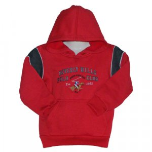 BEVERLY HILLS RED POLO CLUB HOODED SWEATSHIRT WITH FLEECE INTERIOR BOYS M (5) - FREE SHIPPING