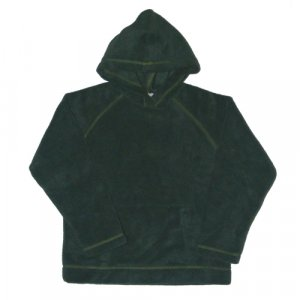 GYMBOREE GREEN LONG SLEEVE HOODED FLEECE PULLOVER WITH KANGAROO POCKET 7 - FREE SHIPPING