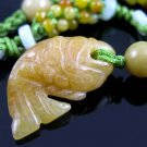 HANDCRAFTED BURMESE YELLOW JADE NECKLACE - FREE SHIPPING