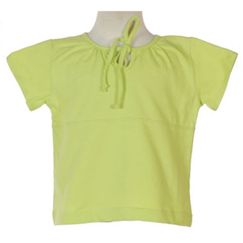 PRINTEMPS STRETCH COTTON LIGHT GREEN TIE FRONT SHORT SLEEVE SHIRT 4T - FREE SHIPPING
