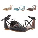 BRONX ULLI FLAT HEEL STRAPPY CASTAGNO (BROWN) SANDALS 37 (US 7M) MADE IN BRAZIL - FREE SHIPPING