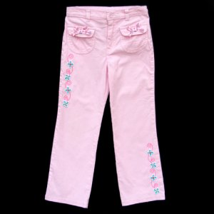 FLAPDOODLES LIGHT PINK FLAP POCKET CORDUROY PANTS WITH EMBELLISHMENTS GIRLS 6X - FREE SHIPPING