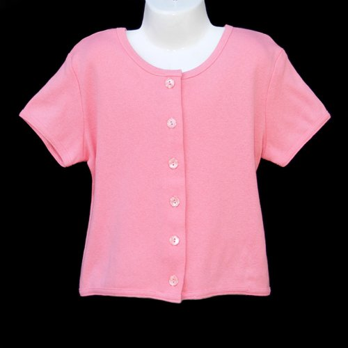 CHICKEN NOODLE 100% COTTON SHORT SLEEVE SHIRT WITH BUTTONS GIRLS 6 MADE IN USA - FREE SHIPPING