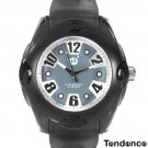 "TENDENCE 6.5"" - 9"" UNISEX RAINBOW GRAY RUBBER WATCH WITH OVERSIZED FEATURES - FREE SHIPPING"