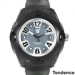 """TENDENCE 6.5"""" - 9"""" UNISEX RAINBOW GRAY RUBBER WATCH WITH OVERSIZED FEATURES - FREE SHIPPING"""