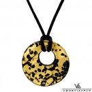 VENETIAURUM 24K QUALITY MULTICOLOR MURANO GLASS GOLD & BLACK NECKLACE MADE IN ITALY - FREE SHIPPING