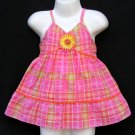 RARE EDITIONS PINK MULTICOLOR EMBELLISHED PLAID DRESS WITH BLOOMERS 6-9 MONTHS - FREE SHIPPING