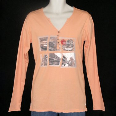 CENT'S LONG SLEEVE V-NECK T-SHIRT WITH GRAPHICS AND EMBROIDERY M LIMITED EDITION - FREE SHIPPING