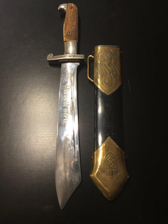 WW2 WWII German dagger Nazi original.